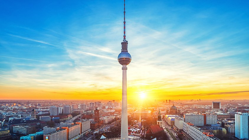 Vista Aerea de la Ciudad de Berlin