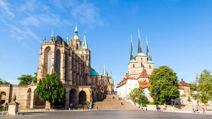 Castillo Dom Hill en Erfurt