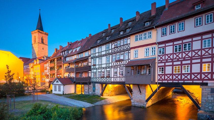 Puente Kraemerbruecke Erfurt