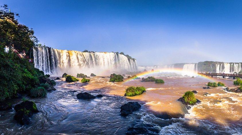 Panorama de las Cataratas en Iguassu