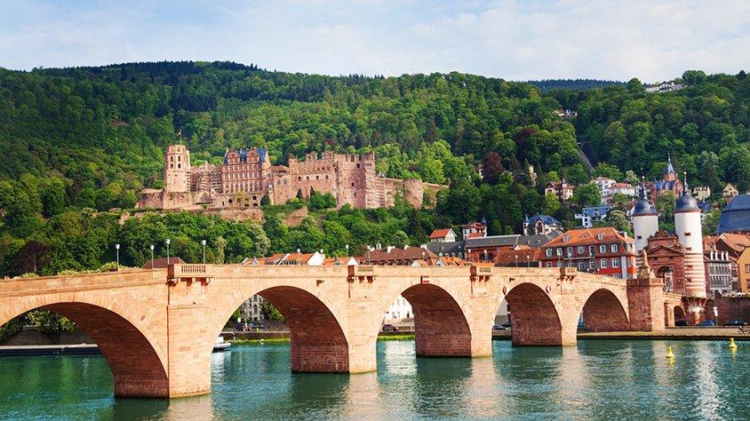 Heidelberg Vista del Puente Antiguo