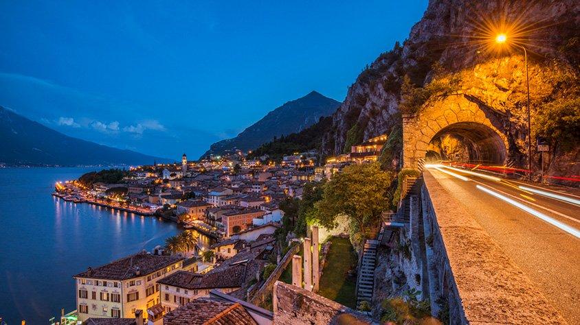 Carretera de la Costa en Lago Garda