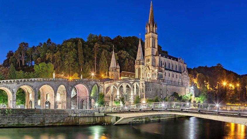Vista Panoramica de la Basilica de Lourdes