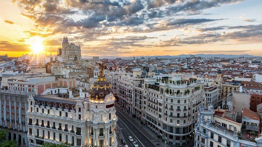 Vista Aerea de la Cuidad de Madrid