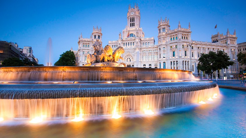 Plaza Cibeles en Madrid España