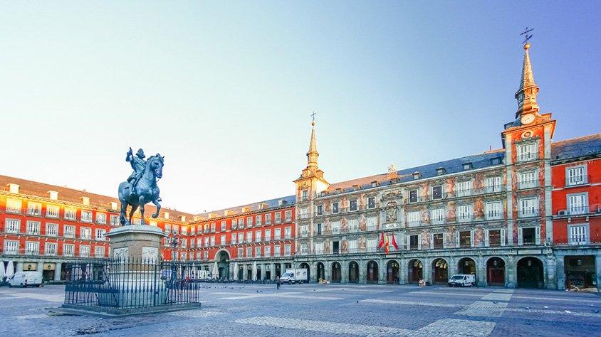 Plaza Mayor en Madrid España