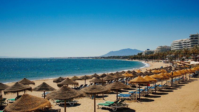 Vista a la Playa en Marbella españa