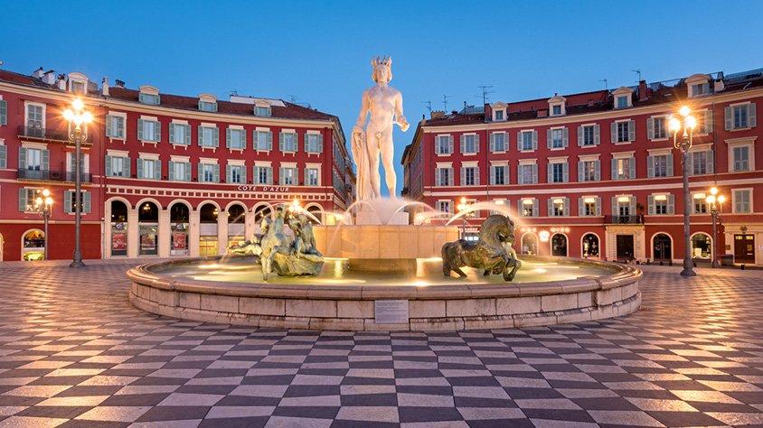 Fuente del Sol en Niza