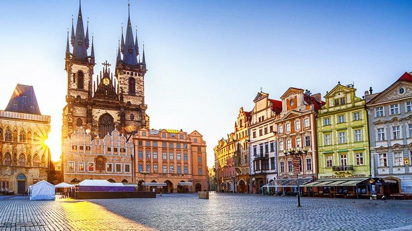Plaza del Casco Antiguo en Praga