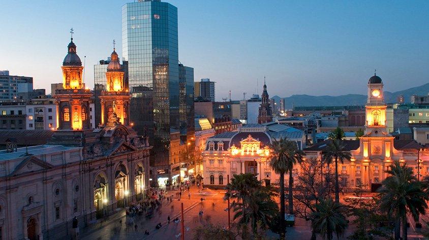 Plaza de Armas en Santiago