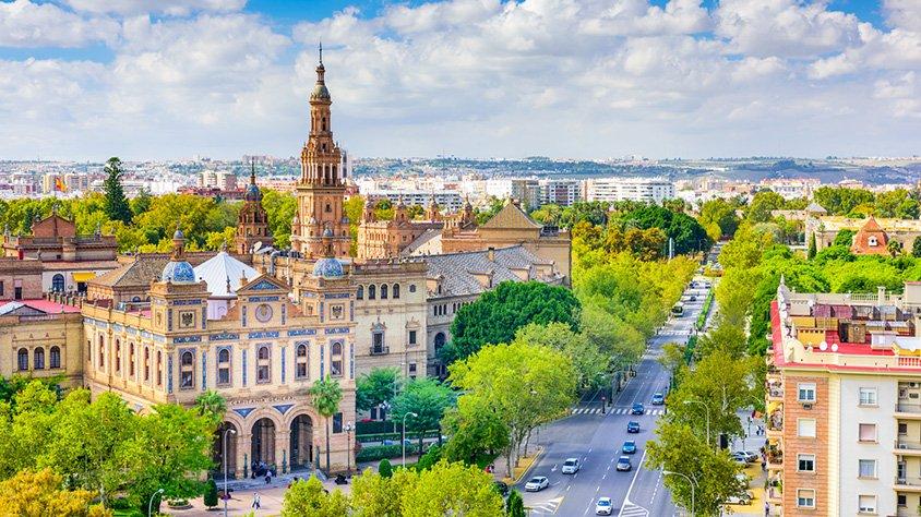 Vista Aerea de la Ciudad de Sevilla