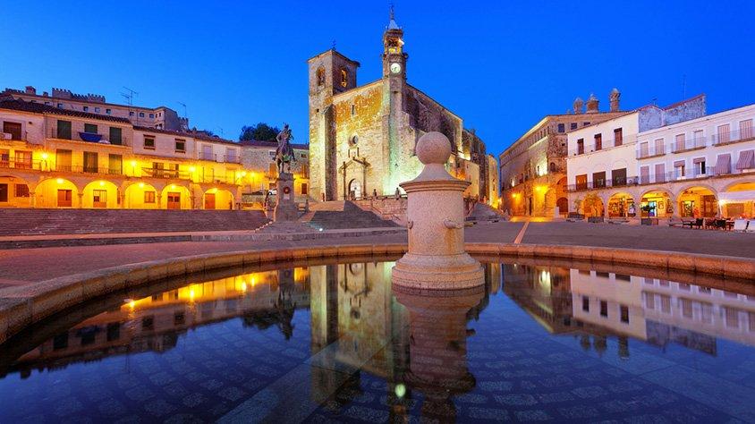 Plaza Princiol de la Ciudad de Trujillo España