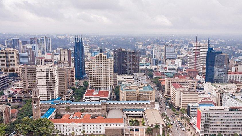 Vista del centro de nairobi