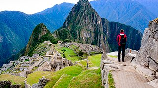 Vista a las Ruinas en Machu Picchu