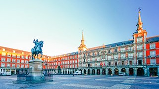Plaza Mayor en Madrid España